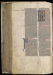 Historiated Initial With King David Harping, In A Bible